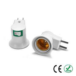 E27 To US AU Plug Switch Socket Lamp Base Bulb Holder Adapter LED Light Round Screw Fixing Fitting E27 Socket Connector