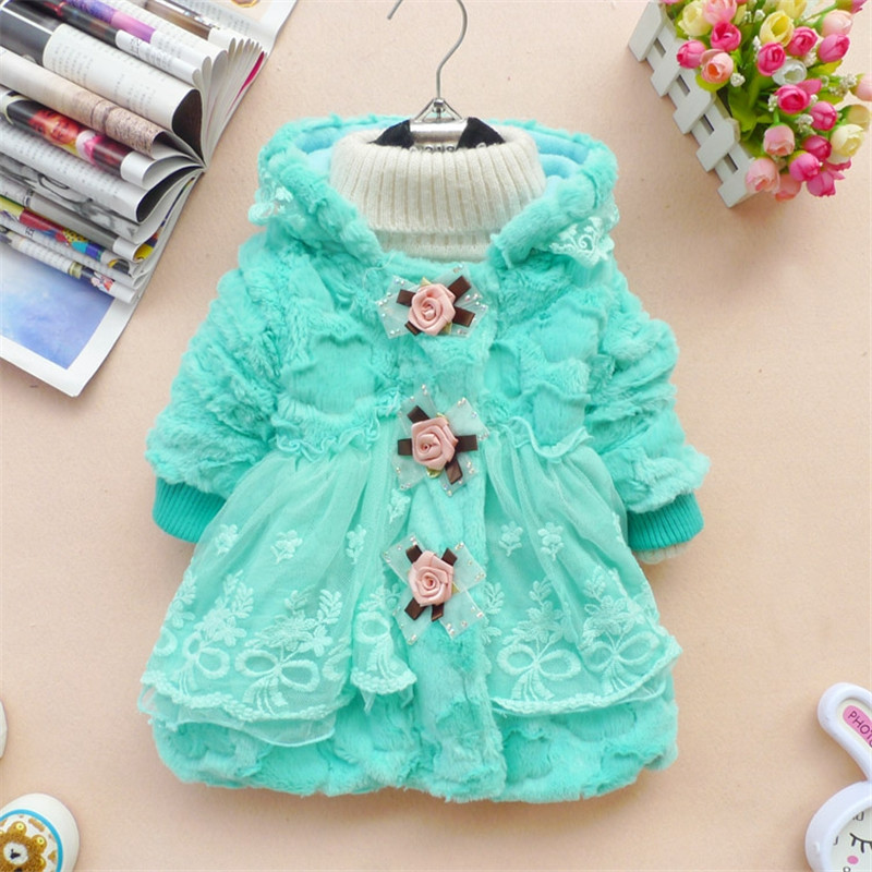 Children Clothes Wool Coat for Girls Kids Winter Fake Fur Hooded Jacket Toddler Girls Outerwear Coat Baby Girl Fashion Overcoat fashion children winter coat long down jacket for girl long parkas kids hooded color raccoon fur collar coat zipper outerwear