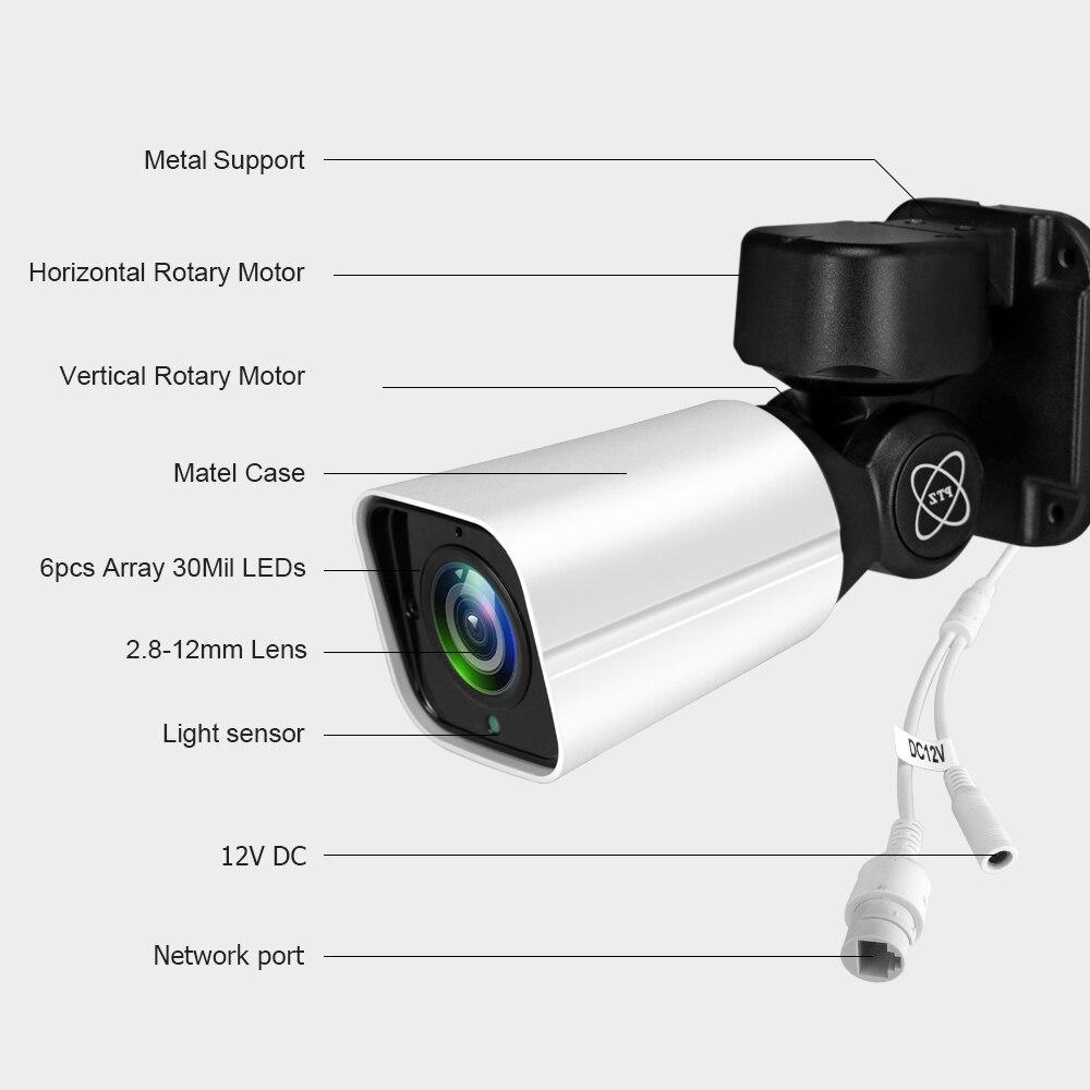 HJT 2.0MP SONY IMX323 M ini PTZ IP Camera H.265 Cloud Storage Outdoor 4X Optische Zoom P2P Cctv Onvif waterdichte IR - 2