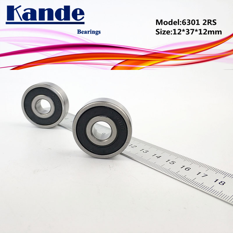 12mm*37mm*12mm 2PCS 6301-2RS 6304RS Deep Groove Rubber Shielded Ball Bearing