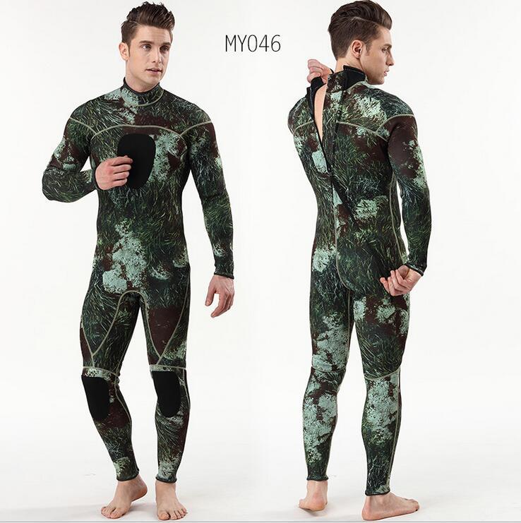 Minnelijk 3mm Mannen Camouflage Duikpak Neopreen Pesca Duiken Onderwatervissers Wetsuit Surf Snorkel Zwemmen Jumpsuit Combinaison Natte Pakken Waterdicht, Schokbestendig En Antimagnetisch