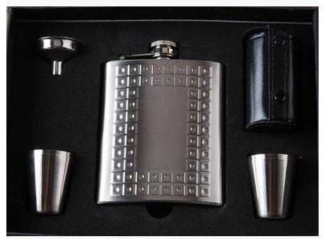 6OZ High quality thicken stainless steel material hip flask diverse styles portable box hip flask suits wine supplies