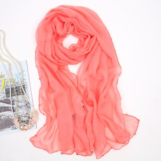 2016 новых мори девушка женские шелковый шарф сплошной цвет bronzier дизайн длинный шарф кондиционеры мыс двойной