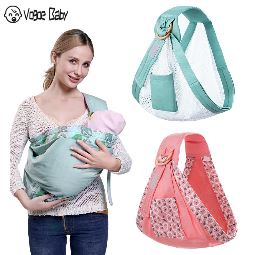 Baby Wrap Carrier Newborn Sling Dual Use Infant Nursing Cover Carrier Mesh Fabric Breastfeeding Carriers Up to 130 lbs (0-36M)79