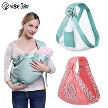 Baby Wrap Carrier Newborn Sling Dual Use Infant Nursing Cover Mesh Fabric Breastfeeding Carriers Up to 130 lbs (0-36M)79