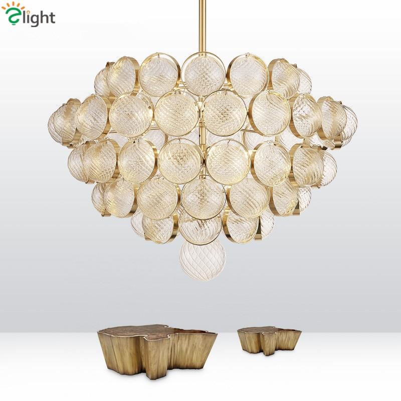 Post Moderní Zlato Luminarias Luster Led Přívěsek Světlo Vyřezávané Skleněné Globes Přívěsek Lampa Vnitřní Osvětlení Svítidla  t