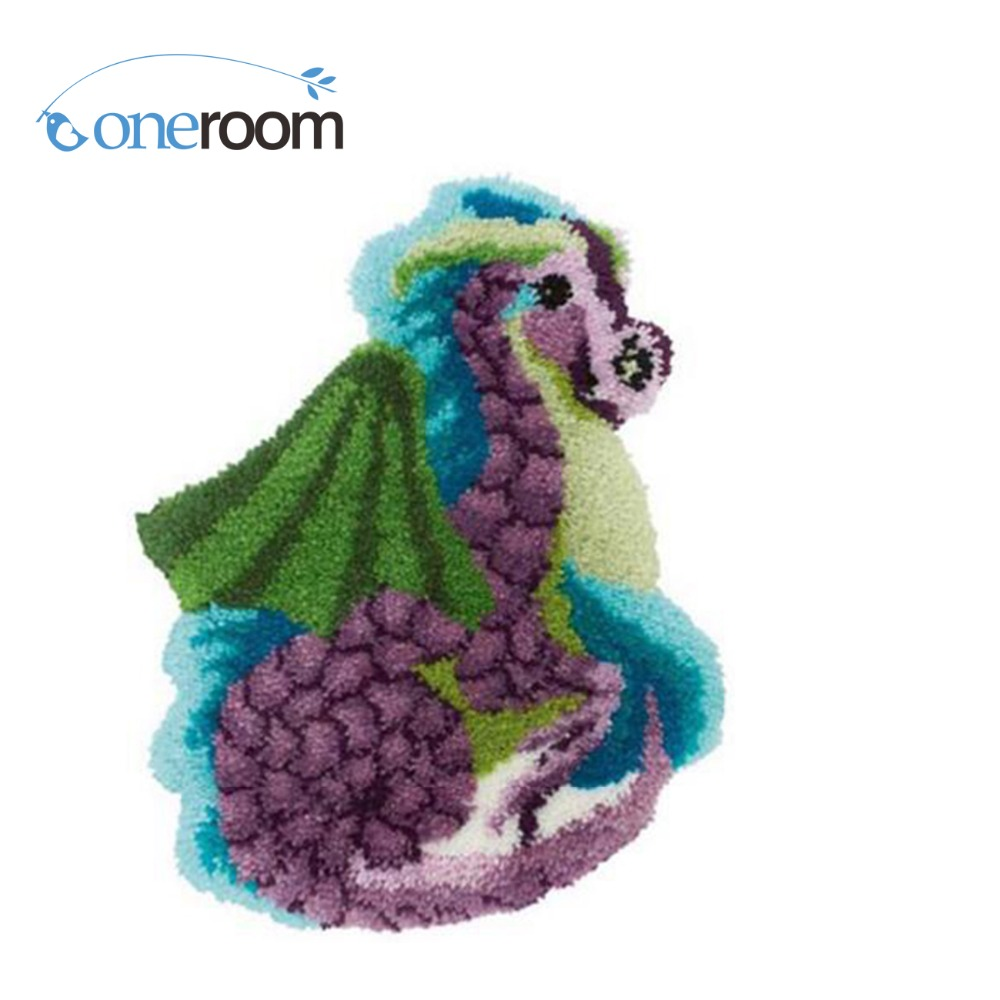 Zd496 Animal Hook Rug Kit Diy Unfinished Crocheting Yarn