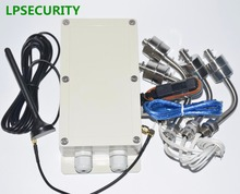 LPSECURITY GSM remote control module switch for River pump Water level monitoring alarm Controller with 4 water sensors