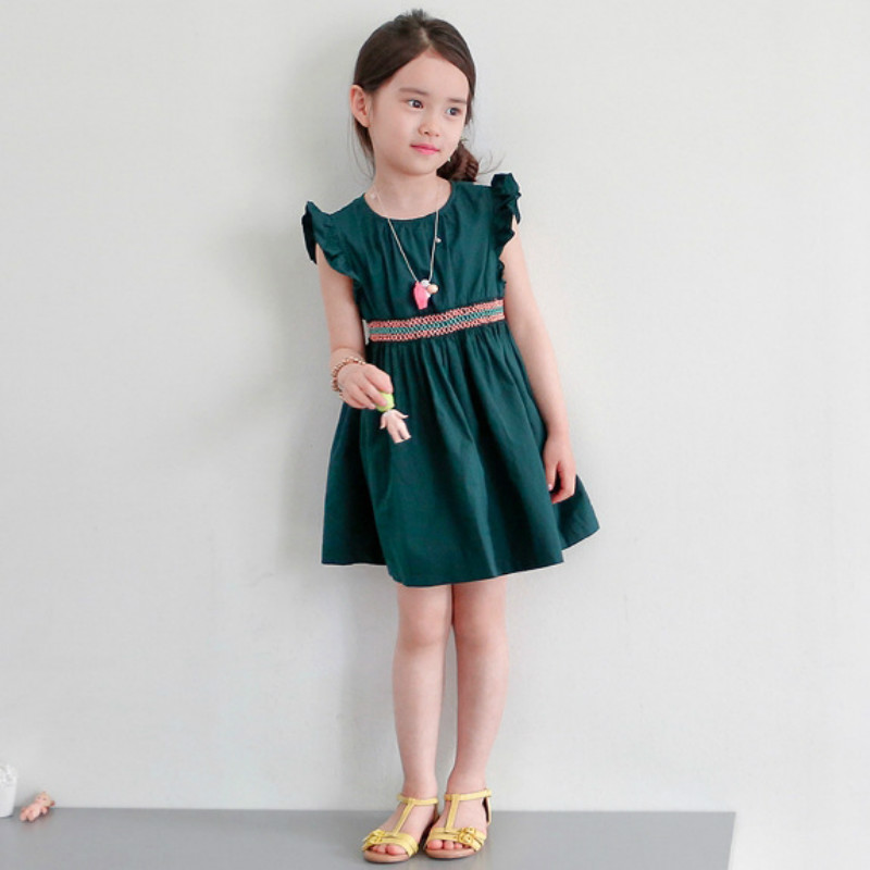 New Baby Children Cotton Dresses Kids Girl Summer Dresses Princess Dresses Brand Girls' Dresses Toddler Clothes,#2673