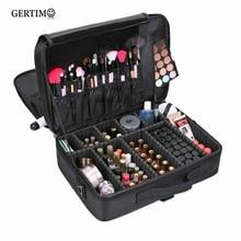 Women Professional Large Capacity Make Up Cosmetic Box Case Organizer Bags Cosmetics Storage Multilayer Suitcase Travel Kits