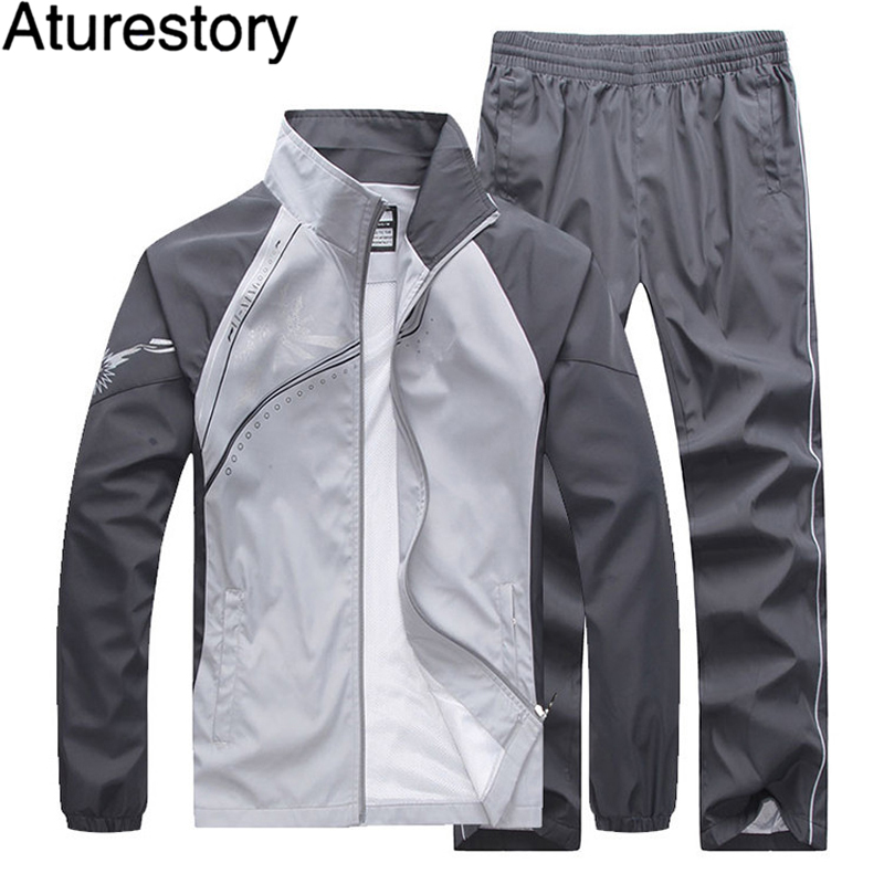 a0d4804b44a Aturestory Spring Autumn Women Mens Tracksuit Set Lovers Long Sleeved  Leisure Thin Track Suit Summer Sportwear