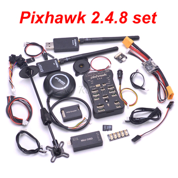 Pixhawk PX4 Autopilot PIX 2.4.8 Flight Controller Safety Switch Buzzer 8N GPS Mini OSD I2C PPM RGB Module 433 / 915 Telemetry
