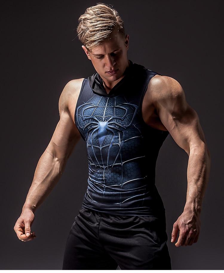 Men's Superhero 3D Printed Tank Top 15