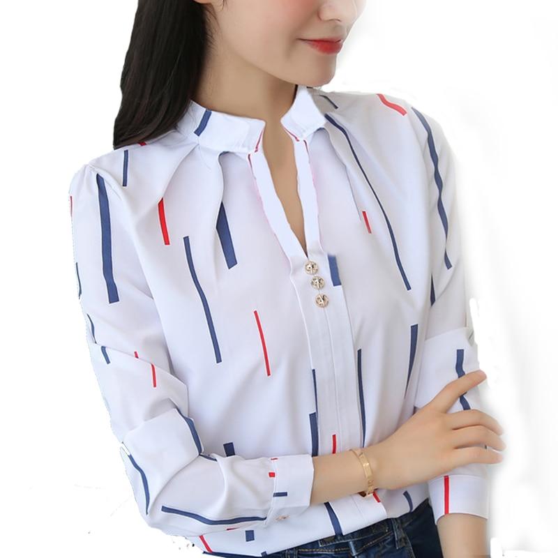 Women Shirts 2018 Women Spring Autumn Blouse Elegant blouse Shirt Lady Office Shirts Stand Collar Women Tops Blusas Shirts