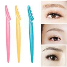 ELECOOL 3 шт./партия триммер для бровей, лица, бровей, волос, бритва для удаления лезвия, бритва, эпилятор, инструменты для макияжа, ножницы для бровей