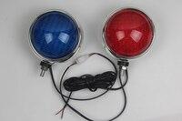 1 Pair Red Blue LED Strobe Lights Motorcycle Front Warning Lamp 12V Motorbike Patrol Flash Lamp