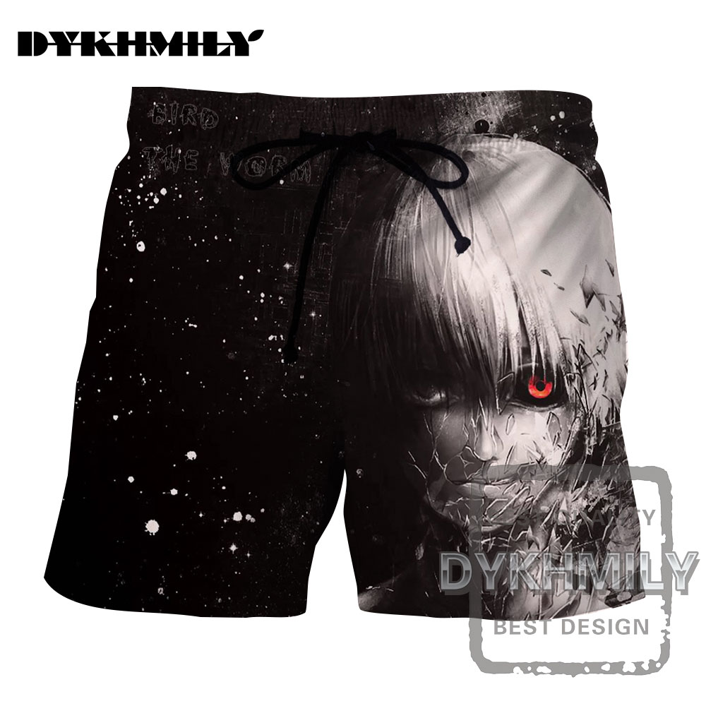 Frugal Dykhmily 2017 Summer New Design 3d Print Men Board Shorts Tokyo Ghoul Anime Style Space Galaxy Streetwear Breathable Short Pants Convenient To Cook Men's Clothing