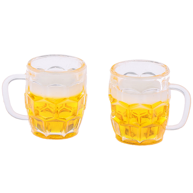 1 Cups Miniature Beer Glass Mini Furniture Model Accessories Beer With Bubbles MINI Doll House Accessories