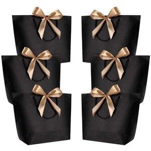 Image 1 - Emballages boîtes cadeaux poignée or 10 pièces