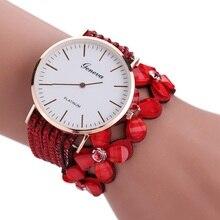 Для женщин часы Роскошные Повседневное аналоговый сплава кварцевые часы из искусственной кожи браслет часы подарок Relogio Feminino reloj mujer