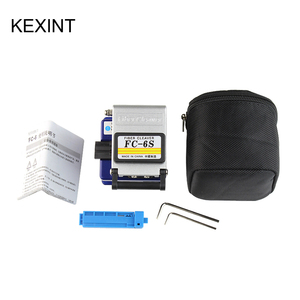 Image 4 - KEXINT FTTH optical fiber tool kit with FC 6S cleaver and visual fault locator wire stripper tool