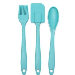 3 teile/satz Küche Werkzeuge Set Silikon Spachtel/Pinsel/Löffel Utensil Küche Gebäck Für Kochen Werkzeuge Küche Zubehör