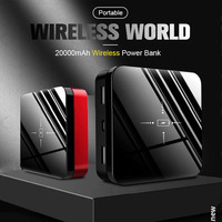 20000mAh Portable Mini Power Bank Qi Fast Wireless Charger Powerbank Charging Power bank For Smart Mobile Phone
