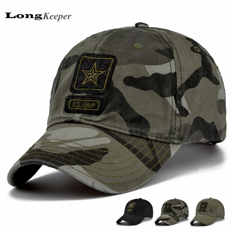 LongKeeper High Quality Camcouflage Baseball Caps Women Men Tactical Army Caps for Men Women Hats Camo Navy Black Casquette Bone