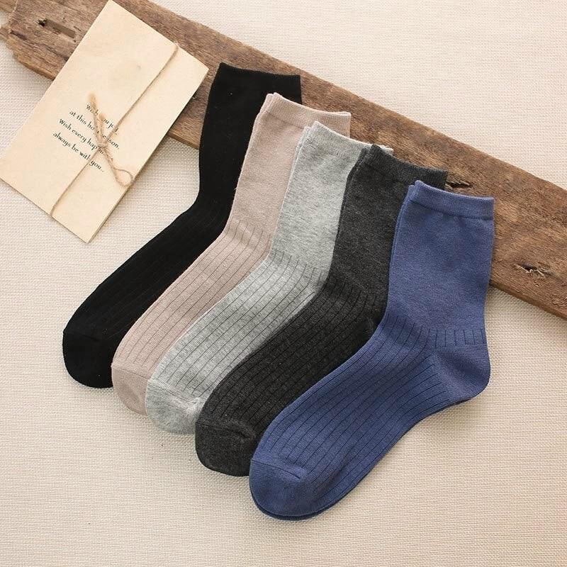 5Pairs/Set Winter Mens Socks Warm Breathable Socks Soft Solid Colors Socks Autumn Casual Sock ZJM9077