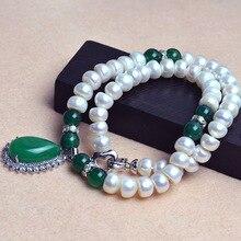 Rodada beads colar 1×1.2mm natural de água doce da pérola da jóia da pérola colar choker colar de belas jóias vintage acessórios