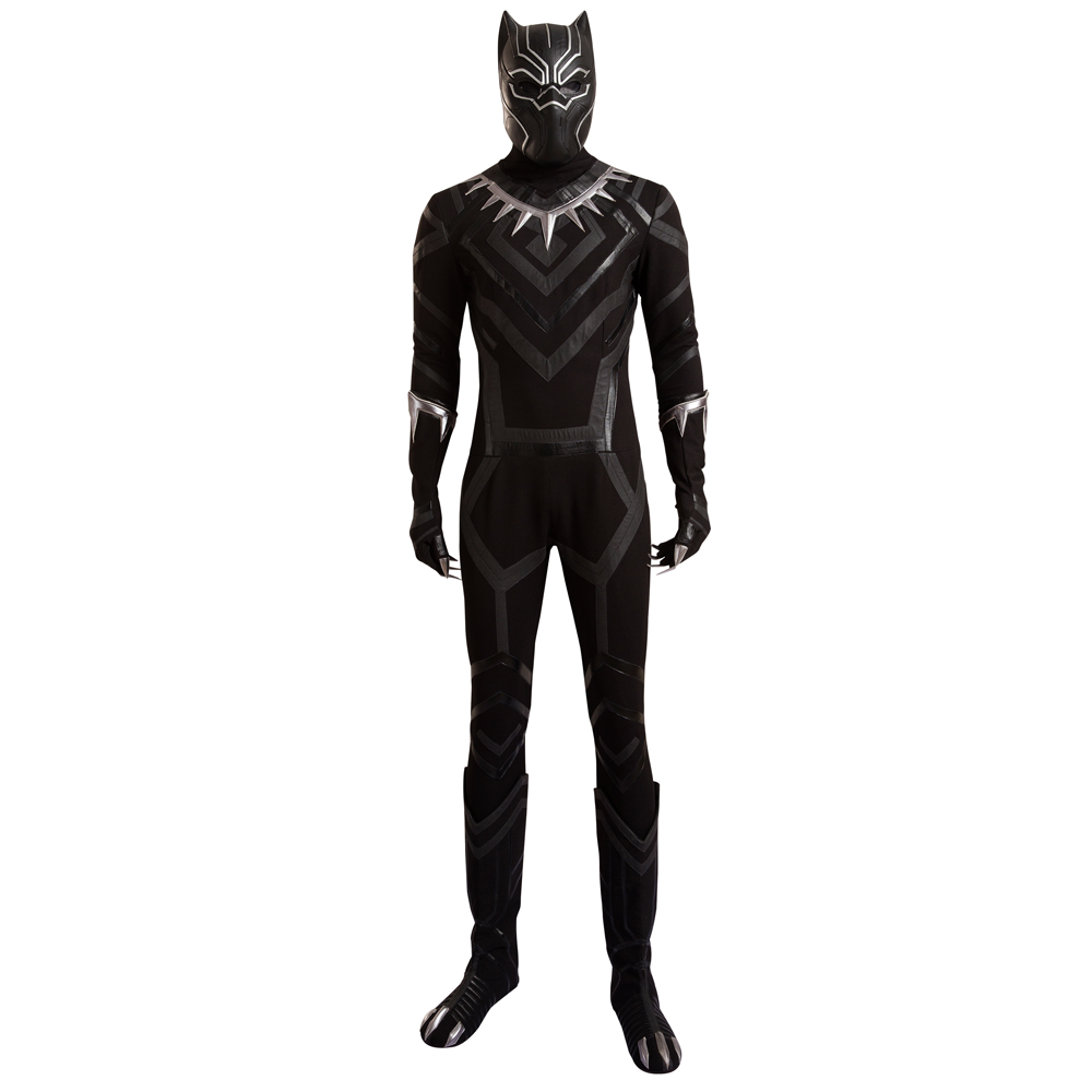 Captain America Cosplay Costume Set Black Panther Zentai Costumes ...