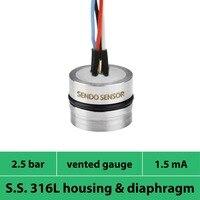 Calibre da barra da pressão 2.5  escala de 0 a 250 kpa  cápsulas de medição da pressão do baixo custo de 0.25 mpa  sinal de mv  cápsula de aço inoxidável