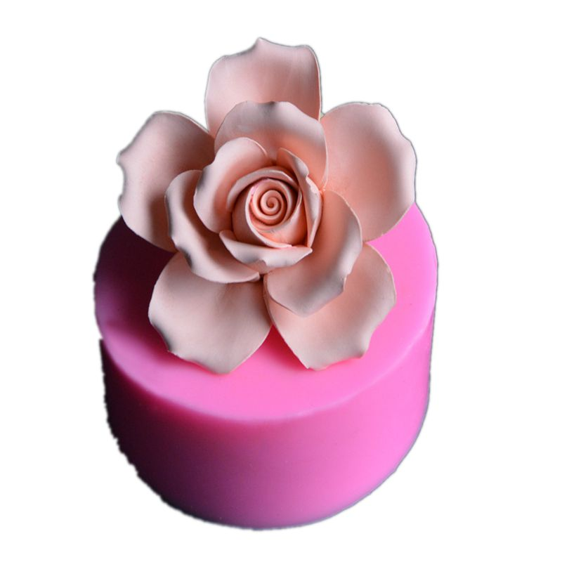 3D rose flower Big Size silicone soap mold Making for DIY Fondant Cake Craft Handmade Soap craft molds Resin Mold
