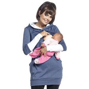 Image 4 - יולדות סיעוד הסווטשרט חורף הריון בהריון נשים סלעית חולצות T חולצה סתיו בגדי הנקה