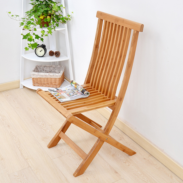 Bamboo Folding Dining Chair Large Medium And Small Portable Bamboo