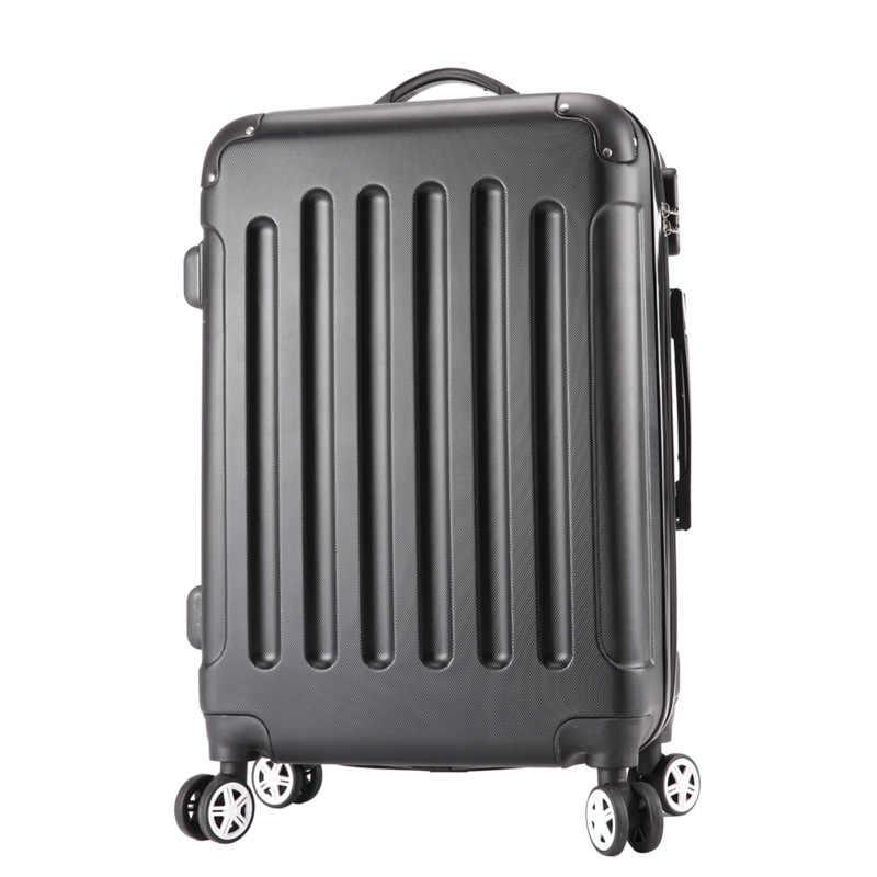 Багаж ABS + PC Новый стиль Мода багаж 20 24 дюймов тележка чемодан сумка для путешествий сумка Скалка багаж с Спиннер