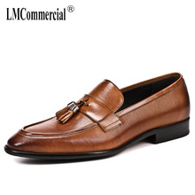 High Quality Genuine Leather mens business shoes British lazy wedding shoes for men Men Dress Shoes all-match cowhide loafers цена 2017