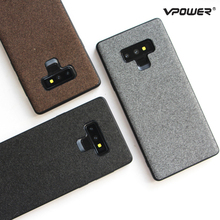 for Samsung Galaxy Note 9 Case Cover Vpower Fashion Canvas Silicone Edge Shockproof Phone Cases