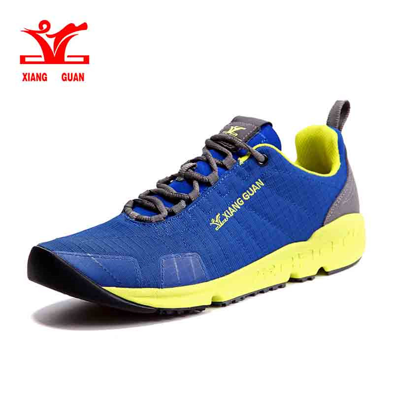 XIANG GUAN Trail Running Shoes Unisex Classic Mesh Athletic Outdoor Trainers Breathable Light weight Sports Sneakers 36-45 xiangguan men trail running shoes mesh athletic trainers walking breathable man outdoor sports sneakers summer size 39 45