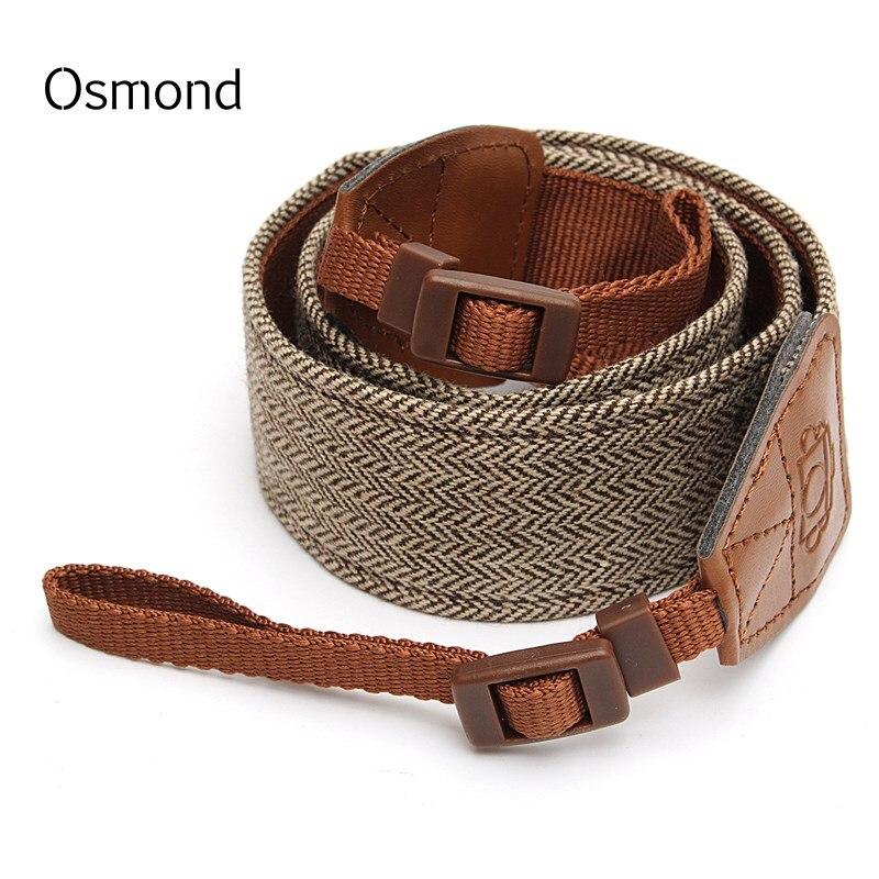 Osmond 71CM Camera Bag Straps Cotton Leather Shoulder Belts Brown Crossbody Bag Strap Long Adjustable Bag Belt Bag Accessories