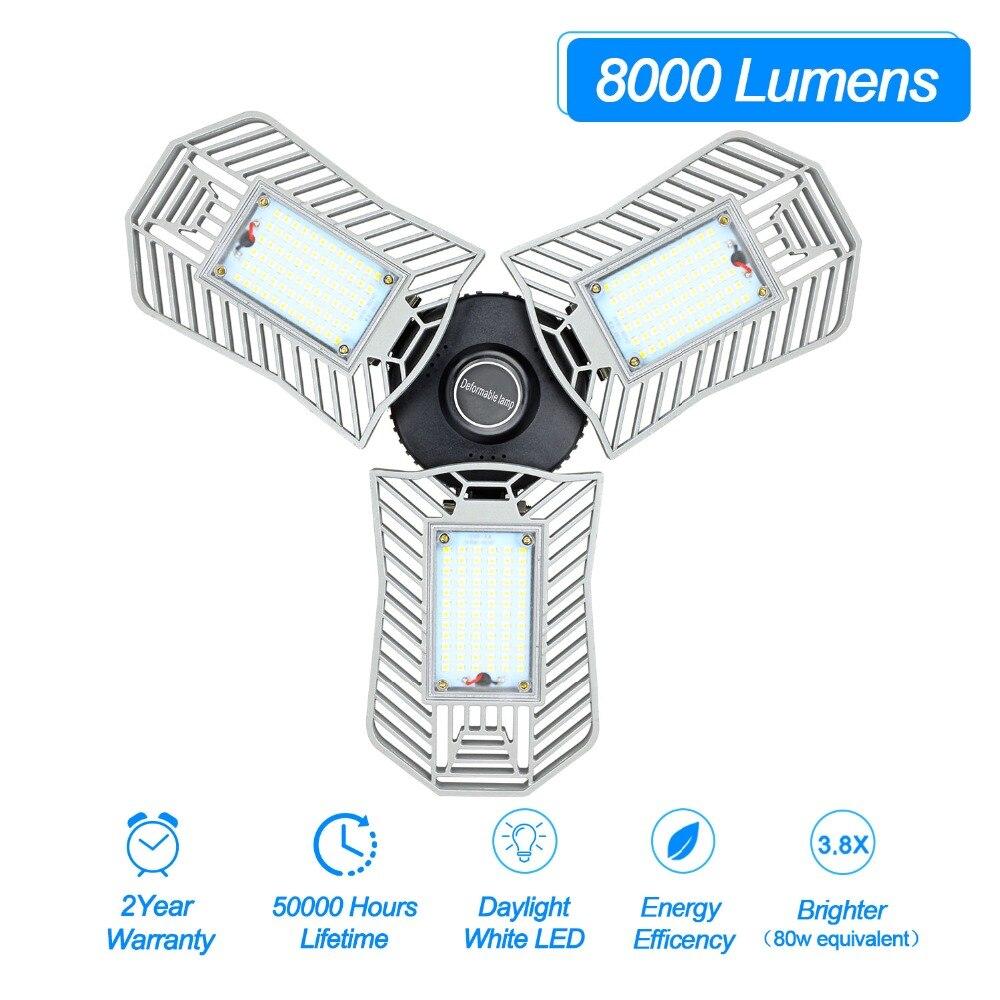 80W 60W E27 Lâmpada Bulbo Led Deformáveis Radar Luz Interior LED SMD 2835 Estúdio Garagem Armazém Industrial de Mineração lâmpada