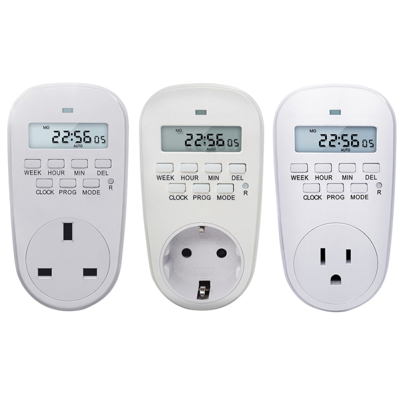 Freundlich Smart Power Steckdose Digital Timer Schalter Energieeinsparung Einstellbar Programmierbare Einstellung Der Uhr/auf/off Zeit Eu/ Uns/uk Stecker Mangelware Timer