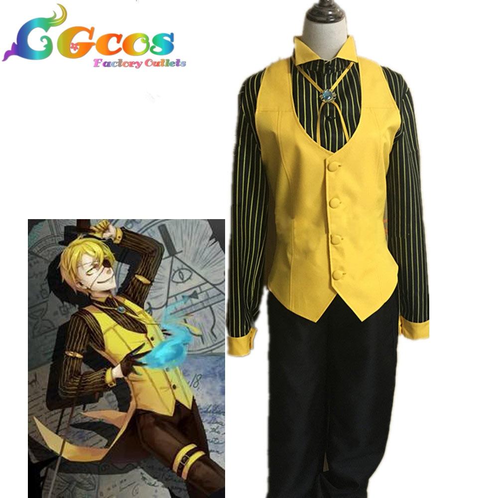 Hot! Cartoon Gravity Falls Bill Cipher Human Cosplay Costume