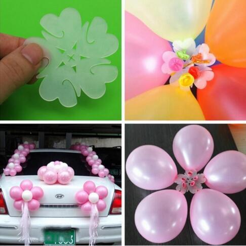 5pcs Plum Flower Shaped Balloon Clips Party Decoration balloon Birthday Party Wedding decorated balloons