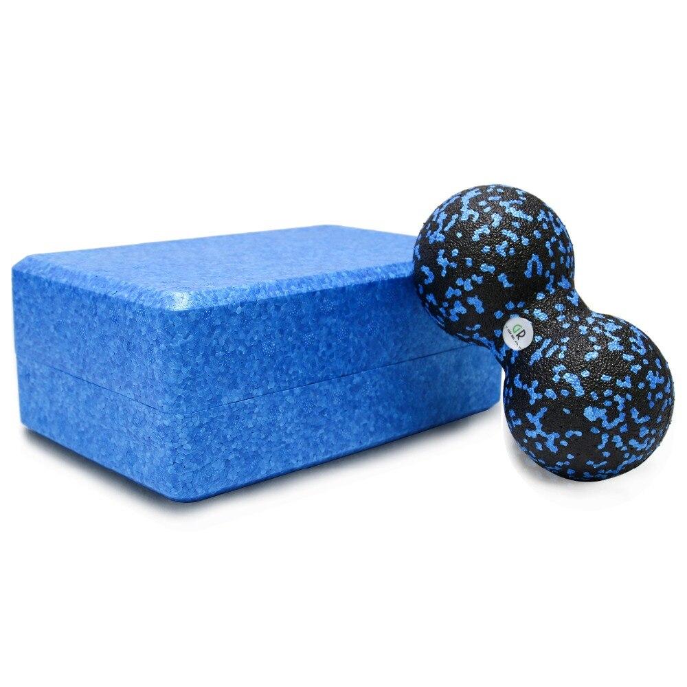 ✔  2 в 1 блок для йоги Комбинат йога кирпич шариковый пенопластовый блок для поддержки углубленных поз  ★