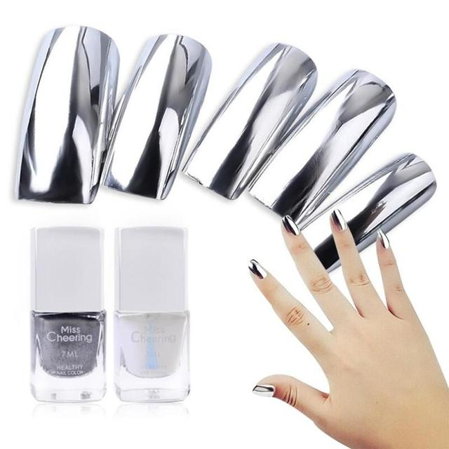 Metallic Nails polaco espejo efecto Metal brillante barniz manicura ...