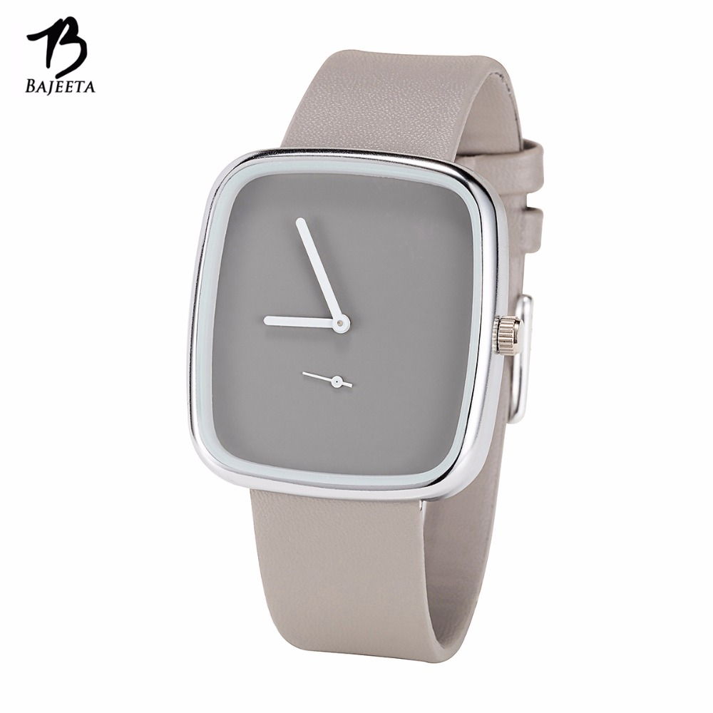 цены BAJEETA New Arrive Simple Style Women Watch Fashion Dress Leather Elegant Quartz Wristwatch Lady Casual Rectangle Clock Dropship