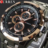 Full Steel Watch Auto Date Black And Silver 2014 NEW Top Brand Men Wristwatches Fashion Casual
