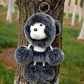 Мех кролика Брелок Помпоном Брелок Сумку Очарование обезьяна Автомобиль Кулон Ключ Покрытие Брелок Женщин Chaveiro Брелки Сумочка Для Ключей