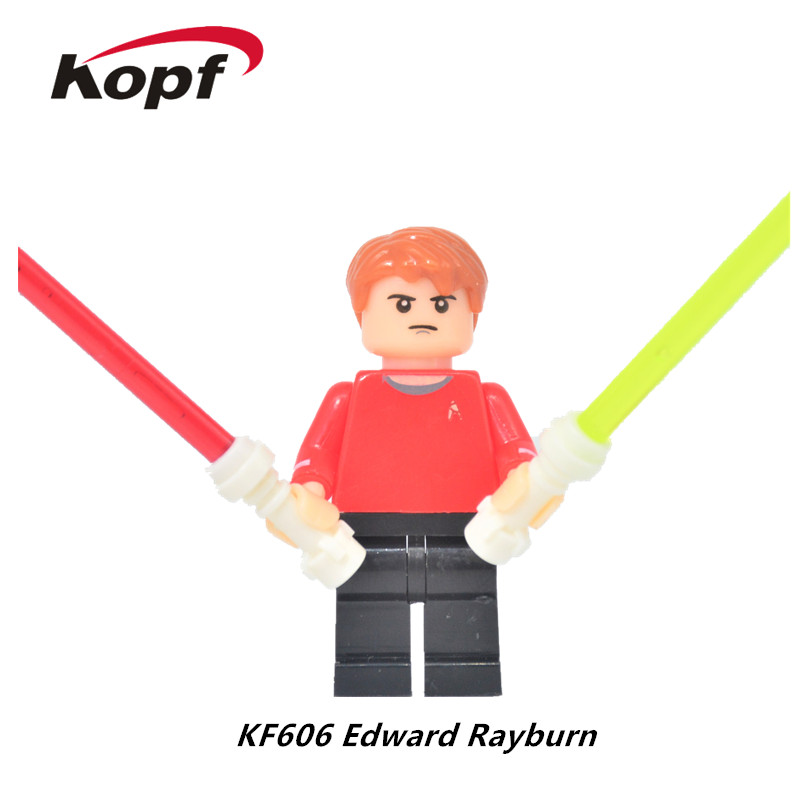 20Pcs KF606 Building Blocks Super Heroes Star Trek Edward Rayburn With Lightsaber Bricks Model Action Figures Children Gift Toys